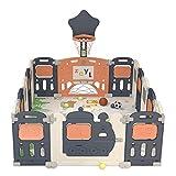 14 Panel Playpen Baby Playpen, Planes Plegables Plegables Con Lock Safety Play Pens, Bases De Goma Antideslizantes, Para Niños Pequeños Centro De Actividades Para Niños Para Interiores Y Exteriores