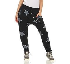 Zarmexx - Pantalón deportivo holgado con tira de botones para ...