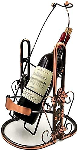 AERVEAL Estante de Vino Titular de Vino Rack de Vino Pantalla de Vino Soporte de Vino Decoración de la Gabinete de Vino 3L / 5L Tenedor de Botella de Vino Almacenamiento de Color de Bronce,3L,3L