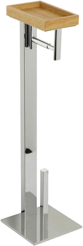 Kingston Brass SCC8501 Edenscape Freestanding Toilet Paper Holder with Storage Shelf, Polished Chrome