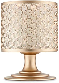 Bath and Body Works Glittery Gold Pedestal 3 Wick Candle Holder.