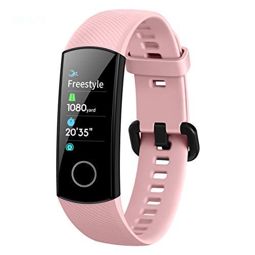 HONOR Band 5 Fitness Armband Sport-Armbanduhr für Herren Damen, Huawei, Smartwatch, IP68, wasserdicht, Android iOS, mit Schlafmonitor, Herzfrequenz (Rosa)