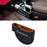 OYADM - Caja de almacenamiento para llenar el espacio entre el asiento y la consola central del coche para BMW, color negro, 1 unidad