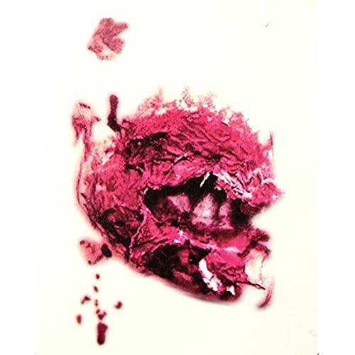 TYFYBH Disputa de Halloween, Horror, Cicatriz, Cuerpo, Cuchillo, Masculino, Hembra, pseud, Pseudo-lesión, extraño Tatuaje (Size : A)