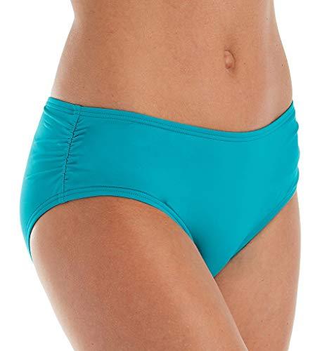 Coco Reef Women's Side Shirred Bikini Bottom, Dark Turquoise 442, Medium