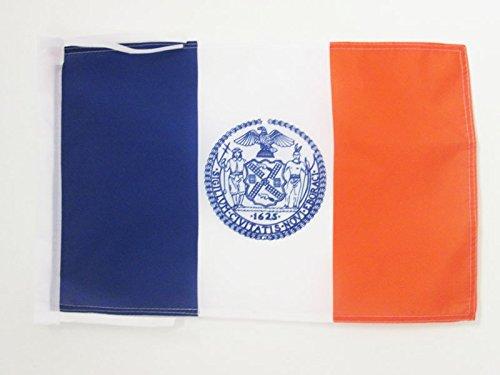 AZ FLAG Flagge New York City 45x30cm mit Kordel - New York City Fahne 30 x 45 cm - flaggen Top Qualität