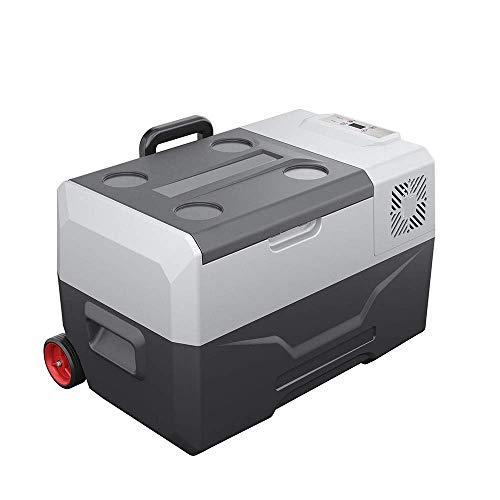 HRRF Mini refrigerador portátil, congelación del compresor -68 ° F, Panel LCD Digital, Mute, Mini Coche Frigorífico Viaje al Aire Libre Refrigerador, 30 litros