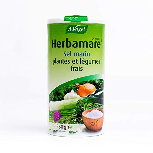 A. VOGEL - Herbamare® Original - Sel marin, plantes et légumes frais - Assaisonnement sain et bio - Vegan - 250 g - Fabriqué en France, à Colmar (Alsace).