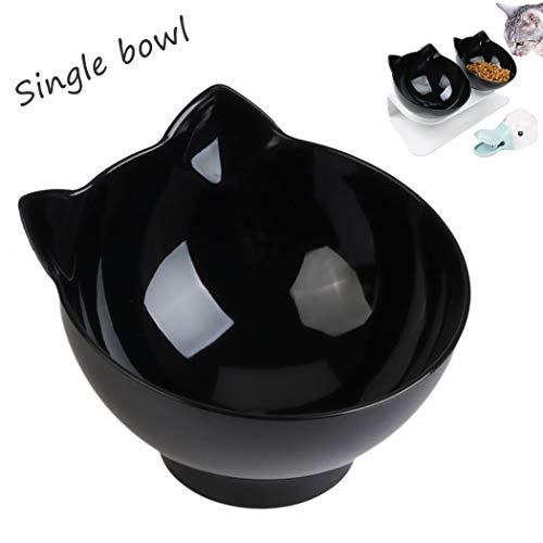 Legendog Katzen futternäpfe, 15 ° geneigt Futternäpfe Katzenfutter, Einzelne Katzen futternapf Schüssel, rutschfest Katzen schüssel ohne Basis für Katzen und kleine Hunde