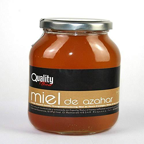 Miel pura de abeja 100{300ba9c675bcb8ce5db3ee8efc4e03986d03b6783478fcf85d9d30d9a2f77f3b}. Miel cruda de Azahar. 1 Kg. Producida en España. Sin pasteurizar ni calentar. Artesana de alta calidad. Tarro de cristal. Gran variedad de exquisitos sabores.