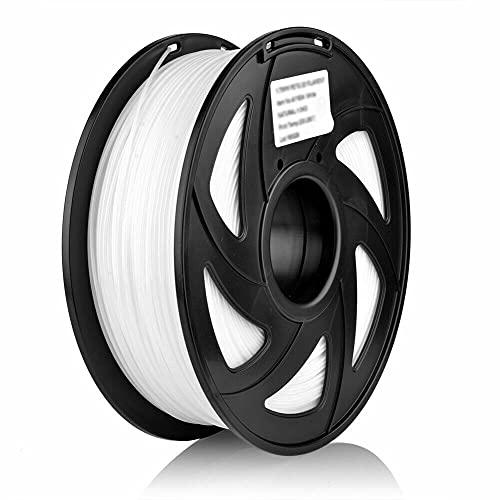 S SIENOC 1.75mm 1KG 1.75mm 3D Impresora PETG Filamento 3D Impresora Filamento -Dimensional +/- 0.05mm (PETG Blanco)