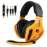 Gaming Headset for Xbox one PS4 (Yellow)