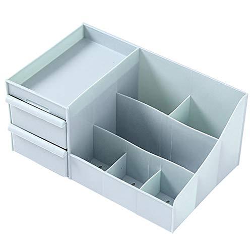 Boîte à Bijoux Sac Cosmétique Multi-Fonction Boîte de Rangement pour cosmétiques, Gros Bijoux en Plastique, boîte de Finition, Support de Maison, Bleu