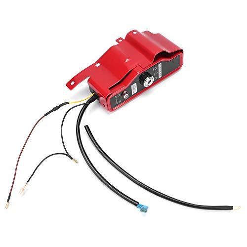 CHICIRIS Interruptor de Encendido eléctrico, Caja de Interruptor de Encendido de Llave de Material de Hierro, para lavadoras a presión de construcción