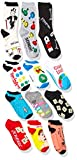 Hasbro unisex-adult's Classic Games 12 Days Advent Box, assorted bright, Fits Sock Size 9-11 Fits Shoe Size 4-10.5 (Girls/Womens) & Fits Shoe Size 4-9 (Boys)