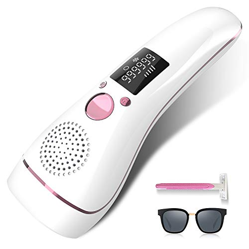 Ice Hair Removal for Women At-Home Painless IPL Hair Removal Permanent UPGRADE to 999,999 Flashes Professional Hair Remover Device Care with Icing Sense Treatment Facial body and Whole body
