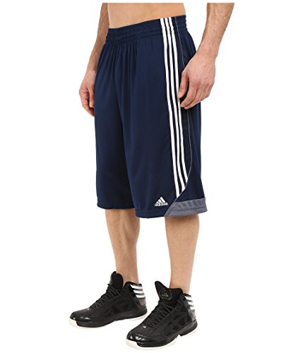 adidas Men's Basketball 3G Speed 2.0 Shorts, Collegiate Navy/White, Small