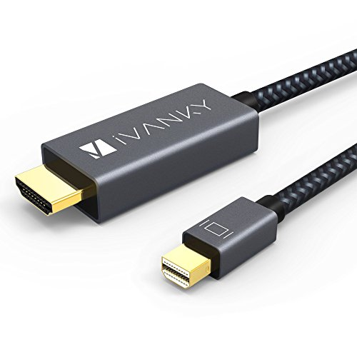 iVANKY Cavo Mini DisplayPort a HDMI [Nylon Intrecciato] Cavo Thunderbolt a HDMI 1080P Compatibile con Surface Pro, Dell XPS 13-3M/10ft