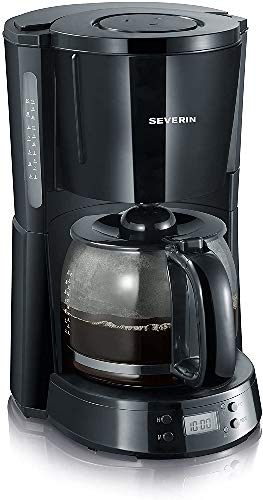 SEVERIN Kaffeemaschine, Select, Für gemahlenen Filterkaffee, 10 Tassen, Inkl. Glaskanne, KA 4191, Schwarz