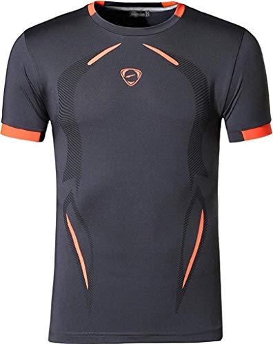 jeansian  Herren Sportswear Quick Dry Short Sleeve Men's Tee T-Shirt Tops Tshirt, XL, Lsl187_gray