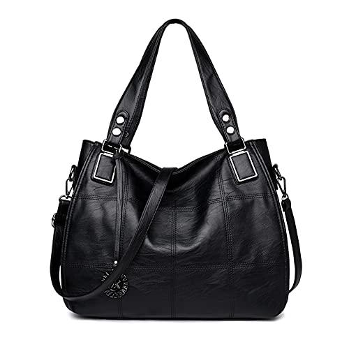 Große Damenhandtasche PU Leder Schultertasche Taschen Tote Henkeltasche für Frauen