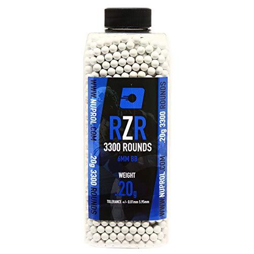 Nuprol Airsoft RZR 6mm BB Pellets 0.20 grams 3300pcs