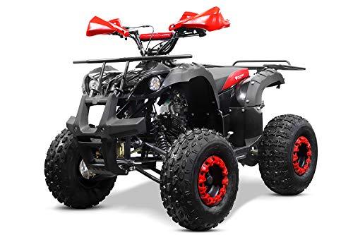 Nitro Motors Toronto 3G8 RS 125cc Midi Quad 8 Zoll 3-Gang Semi-Automatik + RG Kinderquad ATV (Rot)