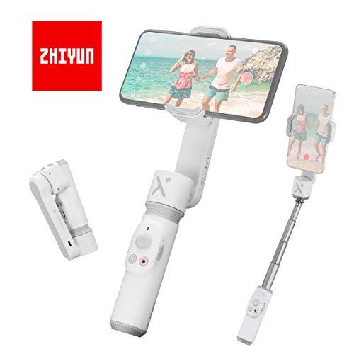 Zhiyun Smooth X Blanco Gimbal-Móvil-Estabilizador-para-Smartphone (con Manual en Español), Estabilizador Portátil Compatible para Celular como iPhone Samsung Huawei Xiaomi