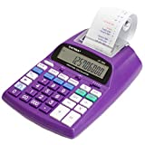 Catiga 12-Digit Desktop Commercial Printing Calculator with Tax Functions, Two Color,2.03 Lines/sec, with AC Adapter, CP-1800 for Home/Office (Purple)