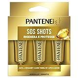 Pantene Pro-V 3 Ampolle Sos Shots Rigenera e Protegge Maschera Intensiva, Ripara i Capelli Danneggiati in una Sola applicazione, Pacco da 3 x 15 ml
