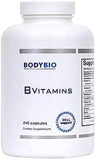 BodyBio - B Vitamins Hi Potency, 240 Capsules