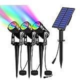 Luz Solar RGB Impermeable IP65, 200-400 Lúmenes RGB Color...