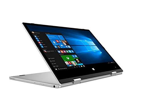 TOPOSH 11.6 inch Windows 10 PC Laptop Tablet Computer Notebook 2 in 1 with Touch Screen, Intel Celeron Quad Core N4100 2.4 GHz Processor 8GB RAM 128 GB SSD- Silver