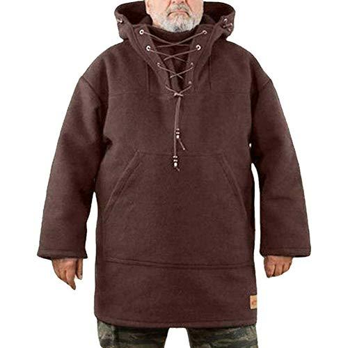 Xiongmao Abrigo Grueso De Lana para Hombre Chaqueta De Invierno Espesa De...