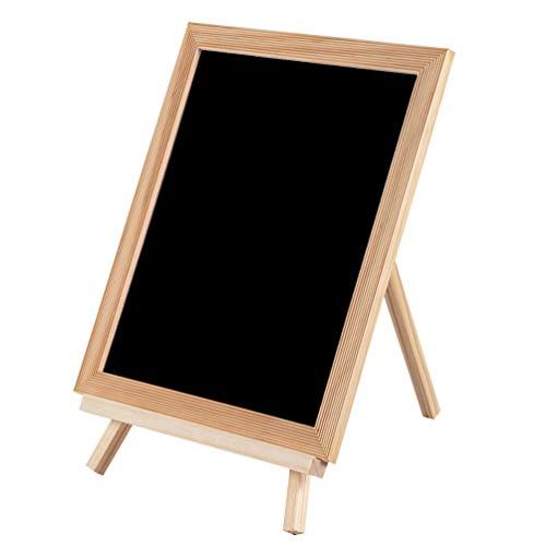 Amosfun Holztafel mit Ständer Schwarzer Briefkasten Stehende Staffelei Zeichnung Tafel Schreibtafel für Home Shop Bar Dekor