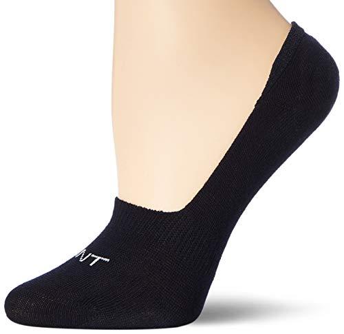GANT Damen D1. 2 Pack SOLID Invisible Socks, Marine, OneSize