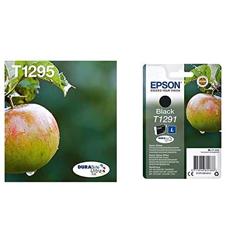 Epson C13T12954511 - Cartucho de Tinta, Multipack 4-colours T129 EasyMail + C13T12914022 - Cartucho de Tinta, Negro
