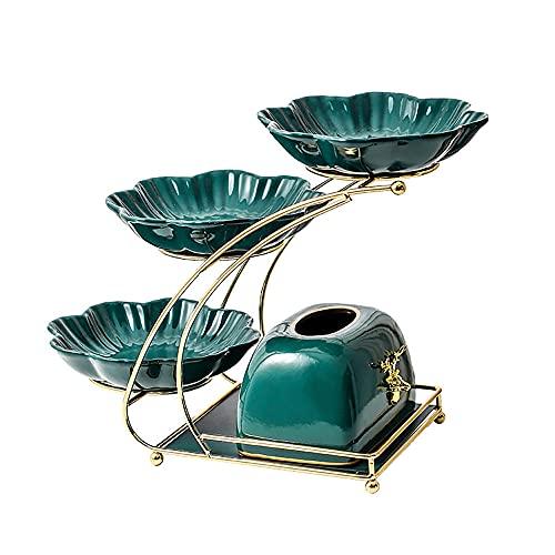 La boda del soporte de la torta de 3 capas, el soporte de exhibición, el soporte de la torta de postre, con la caja de tejido, se puede utilizar para la bandeja de la fiesta de té