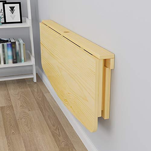 OH Computer-Schreibtisch zur Wandmontage für den Haushalt - Klapptisch zur Wandmontage Massivholz Computer-Schreibtisch Esstisch Lerntisch Faltbare Wandtische Schreibtischgröße Opti