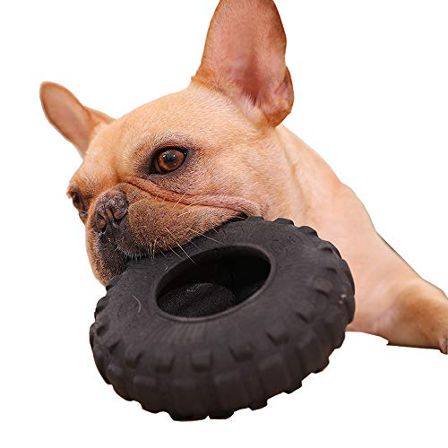 Juguete para perro Corgi Bulldog Shiba Inu anillo de mordedura de goma para molar Labrador perro mascota chicle