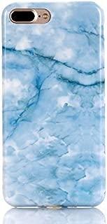 iPhone 7 Plus Case iPhone 8 Plus Case, FAteam Shiny Marble Design Scratchproof Shock Proof Slim TPU Soft Bumper Case Compatible with iPhone 7 Plus iPhone 8 Plus 5.5 inch (Blue)
