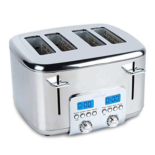 All-Clad TJ824D51 Stainless Steel Digital Toaster with Extra Wide Slot, 4-Slice, Silver