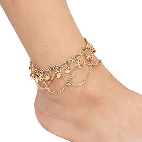 Floridivy gouden kwastketting enkelband armband elegante vrouwen Bell enkels ketting meisje strand armbanden voet sieraden