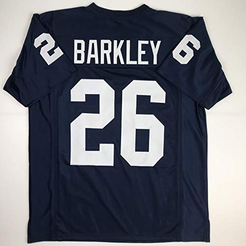 Unsigned Saquon Barkley Penn State Blue College Custom Stitched Football Jersey Size Men's XL New No Brands/Logos