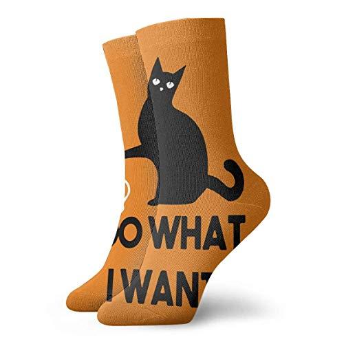 QUEMIN Calcetín, hago lo que quiero Gato Animal 30cm Calcetines largos Calcetines deportivos de algodón para hombres Mujeres Niños Niñas