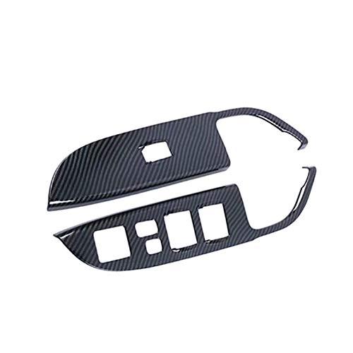 SHOUNAO 4 Unids/Set ABS ABS Puerta De La Ventana Interruptor De La Ventana Cubierta del Interruptor De La Mano Izquierda Ajuste De La Mano Izquierda para Mitsubishi ASX/Outlander Sport 2020 Estili
