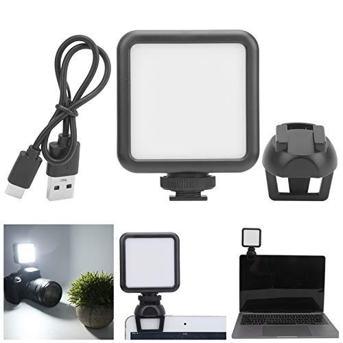 Lámpara de Video Regulable, Luz de Relleno portátil, Brillo Ajustable para transmisión en Vivo Conferencia de enseñanza Video en línea