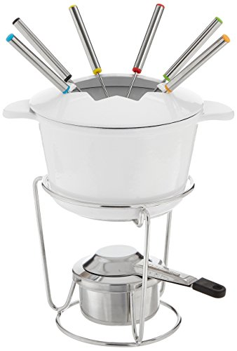 Cuisinart 13-Piece Cast Iron Fondue Set, White