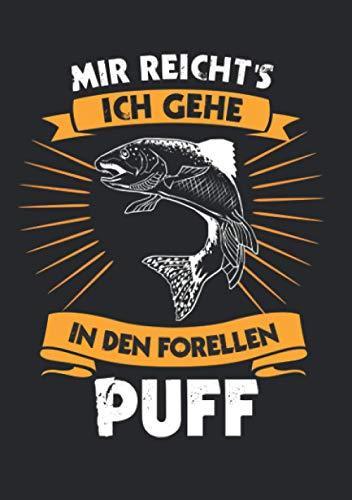 Notizbuch A5 kariert mit Softcover Design: Forellen Angler Spruch Forellenteich Angeln am Forellensee: 120 karierte DIN A5 Seiten
