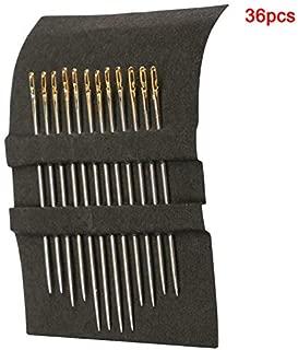 argento 12 pezzi//6 pezzi aghi da cucito con apertura laterale per uso domestico e rammendo a mano Aghi da cucito a mano in acciaio inox
